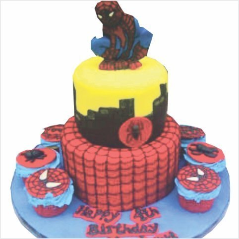 Confectionately Yours ~ Mrs da-Silva's Bakery ~ Birthday cake spiderman
