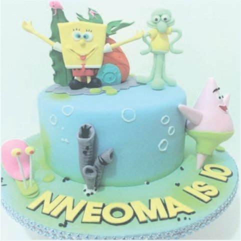 Confectionately Yours ~ Mrs da-Silva's Bakery ~ Birthday cake spongebub