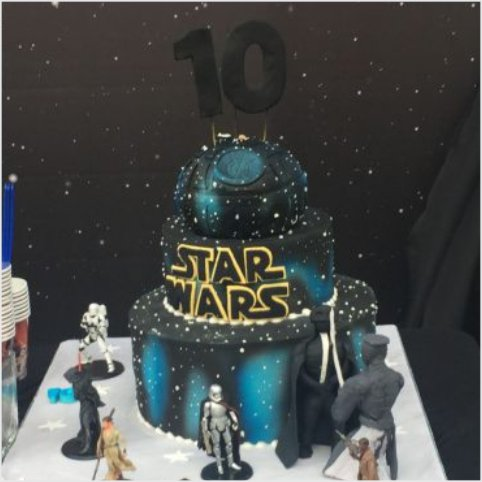 Confectionately Yours ~ Mrs da-Silva's Bakery ~ Birthday cake starwar